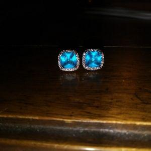 Jewelry - Aquamarine & Diamond Earrings